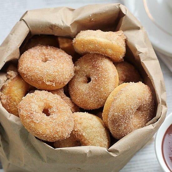 Baked Mini Donuts Recipe, Cinnamon Sugar Doughnuts- Baker ...