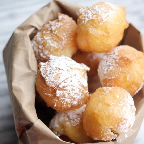 Homemade Beignets, Homemade baked Beignets, baked Homemade B..