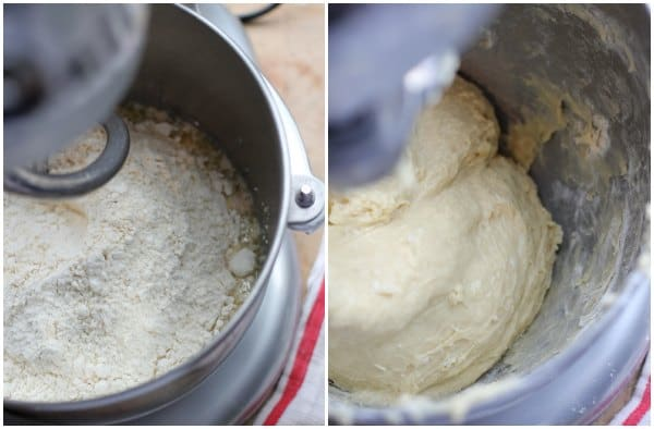 yeast dough being mixed