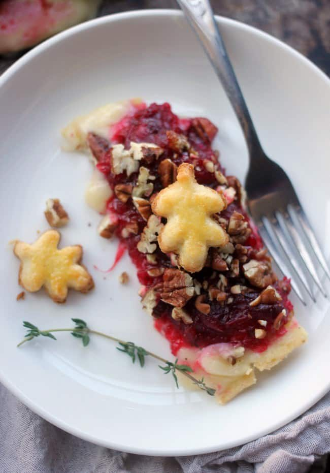 piece of brie cranberry tart