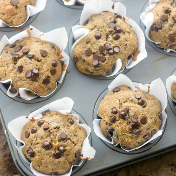 Whole Wheat Summer Squash Chocolate Chip Muffins - Baker ...