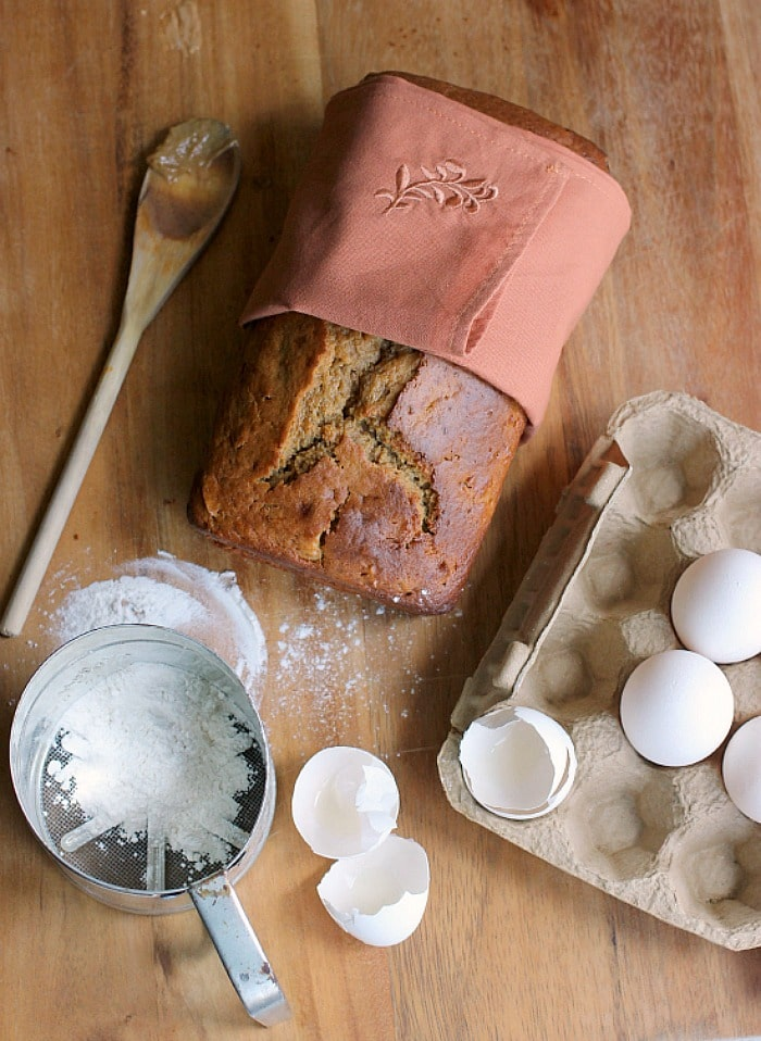 Sweet quick bread loaf