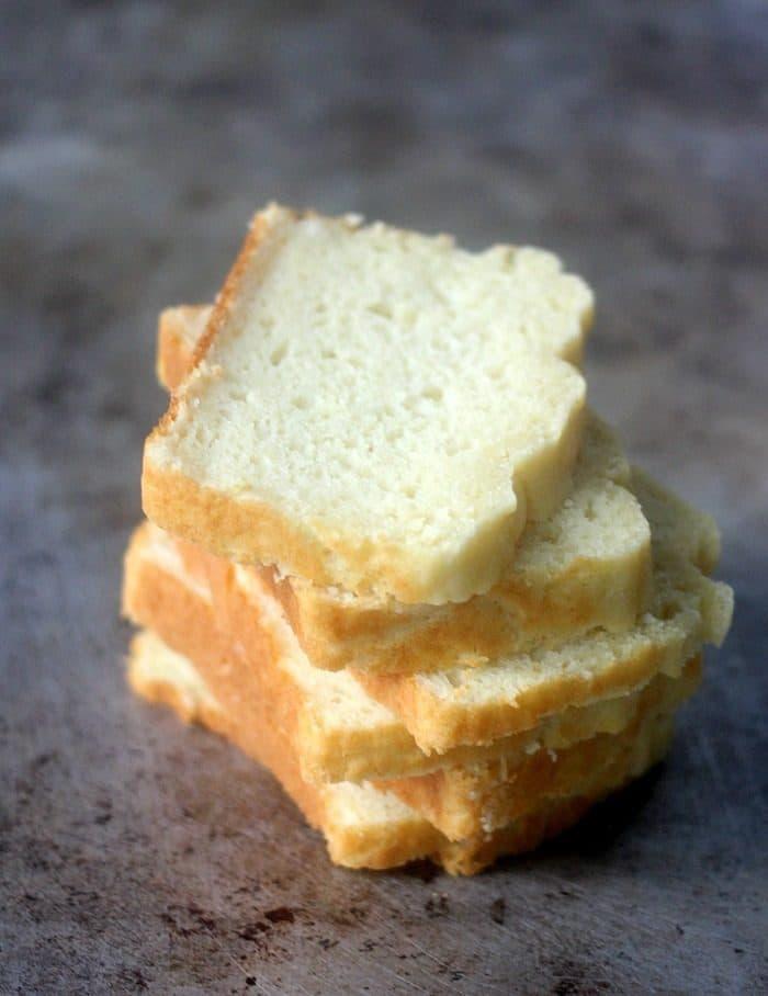 Savory quick bread sandwich slices