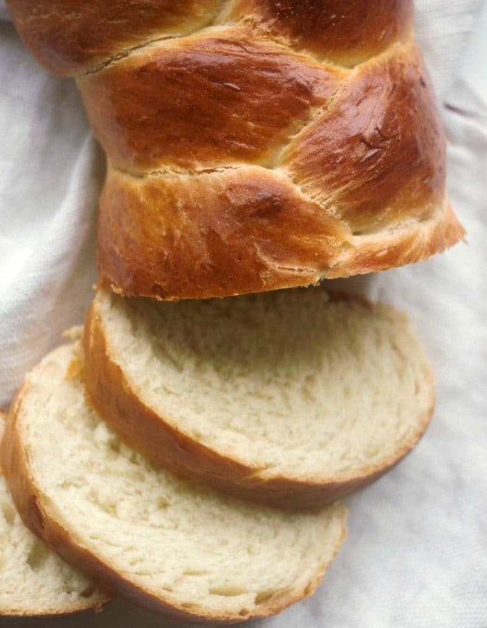 Challah bread made with yeast