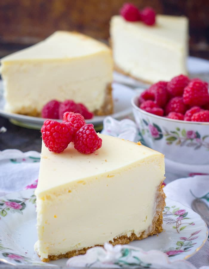 Slices of New York Cheesecake