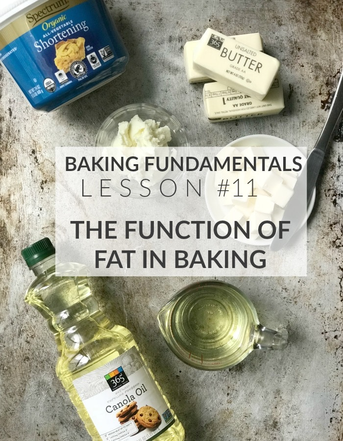 Role Of Fats In Cake Baking